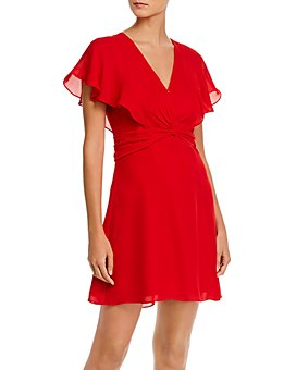 Parker - Katie Flutter Sleeve Mini Dress