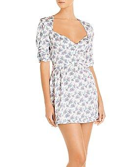 For Love & Lemons - Taggart Floral Print Mini Dress
