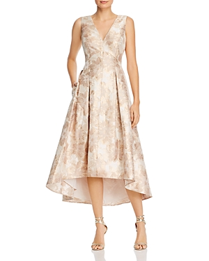 Eliza J Floral Jacquard Fit-and-Flare Dress-Women