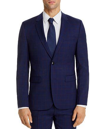 HUGO - Astian Plaid Extra Slim Fit Suit Jacket