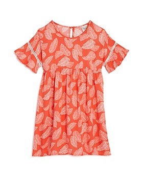 AQUA - Girls' Leaf-Print Dress, Big Kid - 100% Exclusive