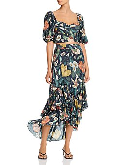 Atelier 1756 - Floral Crop Top & Midi Skirt