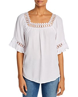 Alison Andrews - Crochet-Trim Top
