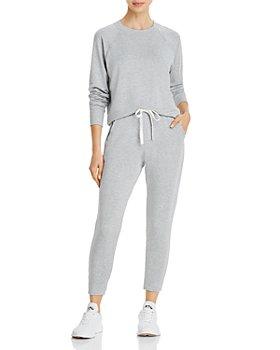 Splits59 - Splits59 Warm Up Curved-Hem Sweatshirt & Reena Drawstring Sweatpants