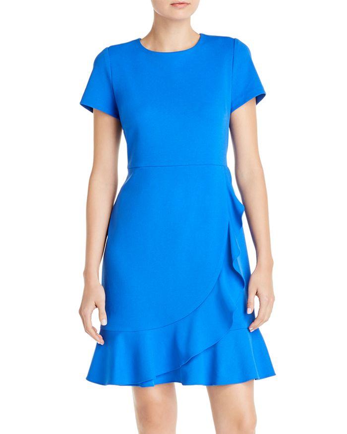 KARL LAGERFELD PARIS - Crepe Ruffle-Trim Dress