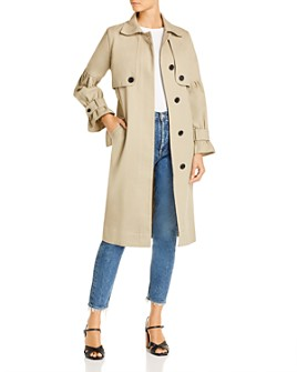 Joie - Alwena Puff-Sleeve Cotton Trench Coat - 100% Exclusive