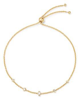 Zoë Chicco - 14K Yellow Gold Diamond Baguette Bolo Bracelet