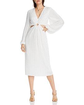 LINI - Florence Pleated Waist-Cutout Dress - 100% Exclusive