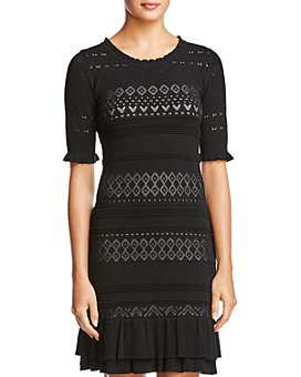 Bailey 44 - Short-Sleeve Lace Sweater Dress