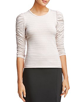 Bailey 44 - Inna Striped Ruched-Sleeve Top