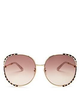 Gucci - Women's Oversized Round Sunglasses, 64mm