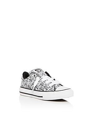 Converse Boys' License Plate Low-Top Sneaker - Toddler, Little Kid