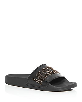 Moschino - Women's Crystal Slide Sandals - 100% Exclusive