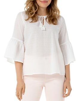 Liverpool Los Angeles - Cotton Bell-Sleeve Blouse