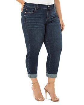 Liverpool Los Angeles Plus - Peyton Slim-Leg Boyfriend Jeans in Ocala