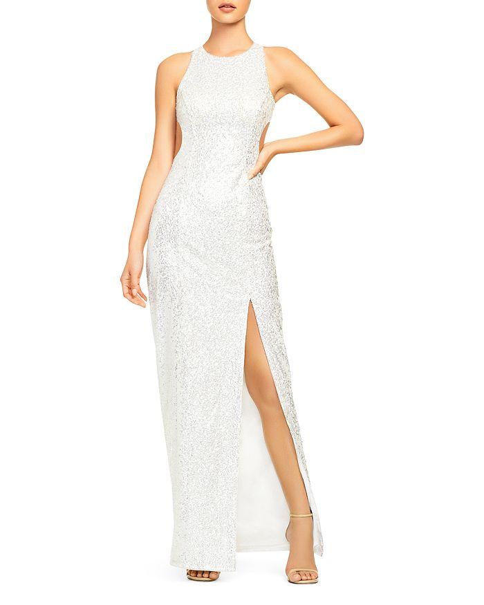 Aidan by Aidan Mattox - Cutout Sequin Gown