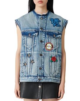 Maje - Denim Sleeveless Jacket