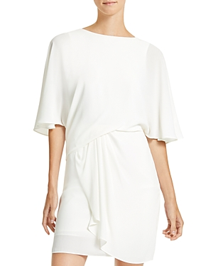Halston DRAPED-SKIRT DRESS