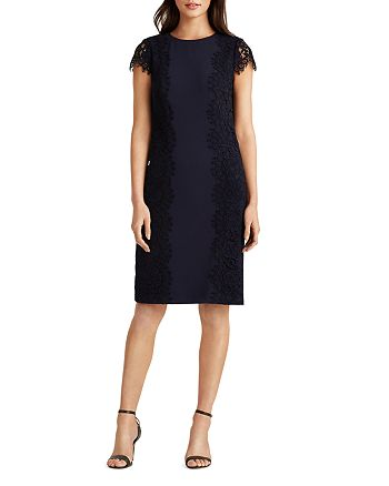 Ralph Lauren - Jersey-Lace Cocktail Dress