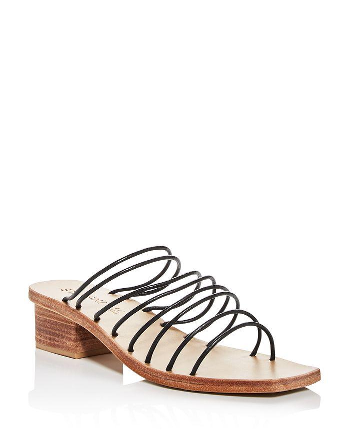 St. Agni - Women's Ines Square-Toe Block-Heel Sandals