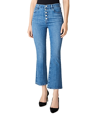 J Brand Lillie High-Rise Crop Flare Jeans in Heart-Women
