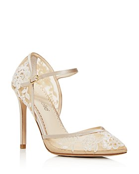 Bella Belle - Women's Claudia Embroidered Mary-Jane Pumps