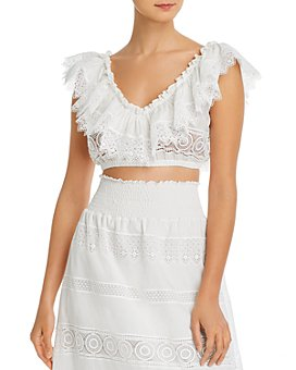 Waimari - Fiammetta Lace Crop Top