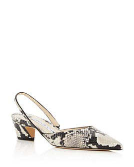 Jimmy Choo - x Kaia Women's K-Slingback 40 Snake-Embossed Pumps