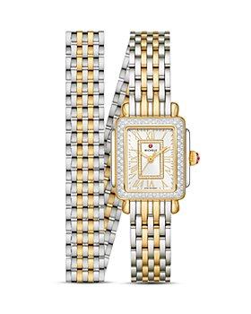 MICHELE - Deco Madison Mini Two-Tone Diamond Watch, 22mm x 35mm