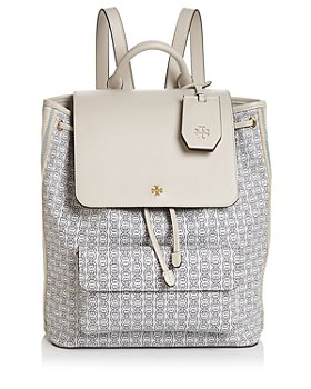 Tory Burch - Gemini Link Medium Canvas & Leather Backpack