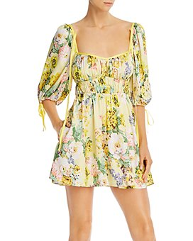 For Love & Lemons - Leigh Floral-Print Mini Dress