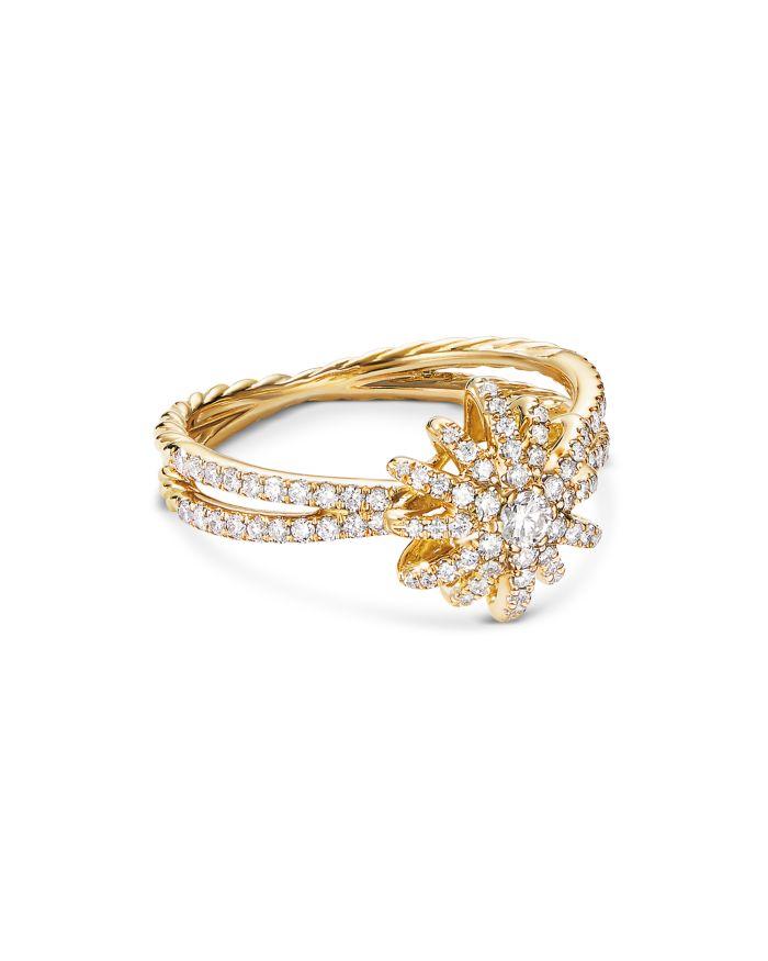 David Yurman Pavé Diamond Starburst Ring in 18K Yellow Gold    Bloomingdale's