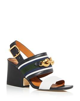 Tory Burch - Women's Jessa Slingback Block-Heel Sandals