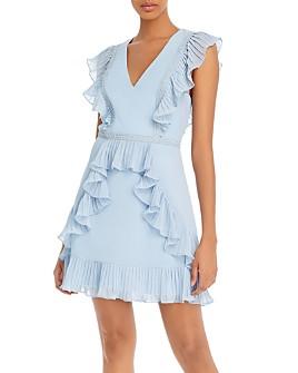 BCBGMAXAZRIA - Pleated Ruffle Dress
