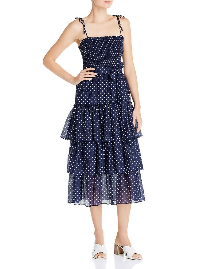 Tory Burch - Silk Printed Tiered Ruffle Dress