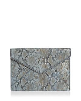 Rebecca Minkoff - Leo Small Metallic Leather Clutch