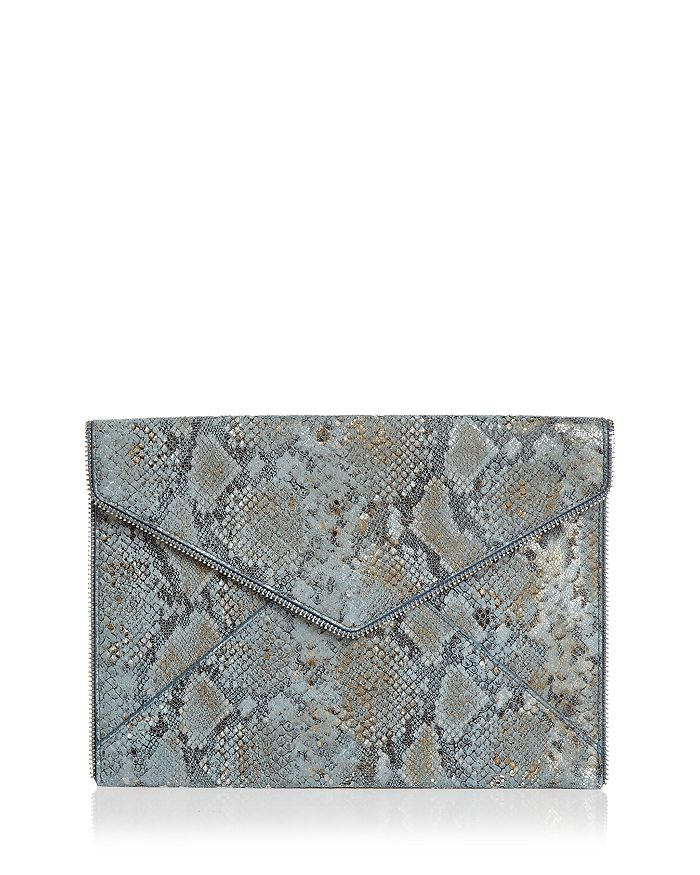 Rebecca Minkoff - Leo Small Metallic Leather Clutch