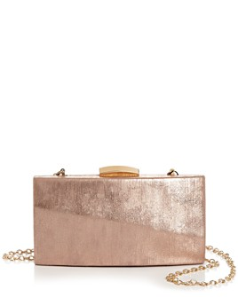 AQUA - Mini Metallic Box Clutch - 100% Exclusive