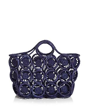 Aqua Macrame Raffia Tote - 100% Exclusive-Handbags