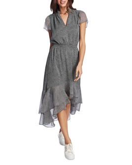 1.STATE - Ruffled High-Low Dress