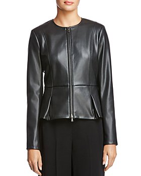 Bailey 44 - Avery Peplum-Hem Faux-Leather Jacket