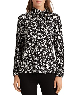 Ralph Lauren - Floral Abstract Print Relaxed Fit Top