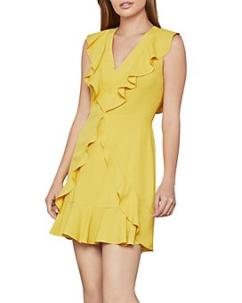BCBGMAXAZRIA - Tyrah Sleeveless Ruffle Dress