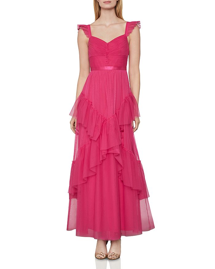 BCBGMAXAZRIA - Rulled Tulle Gown