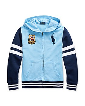 Ralph Lauren - Boys' Cotton Colorblocked Stripe Zip Hoodie - Big Kid