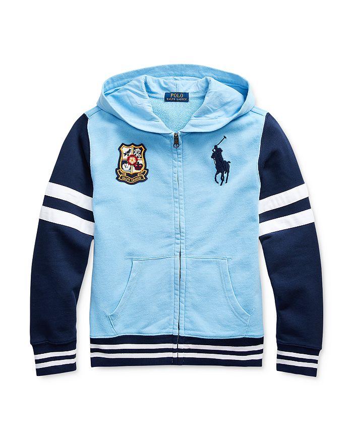 Ralph Lauren - Boys' Color-Block Emblem Hoodie - Little Kid, Big Kid
