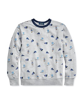 Ralph Lauren - Boys' Cotton Sneaker-Print Sweatshirt - Big Kid