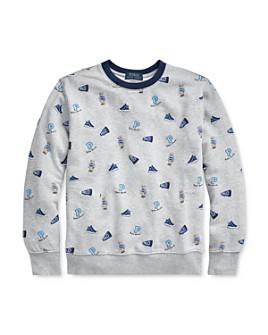 Ralph Lauren - Boys' Cotton Sneaker-Print Sweatshirt - Big Kid