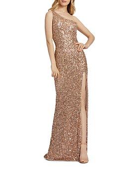 Mac Duggal - One-Shoulder Beaded Gown