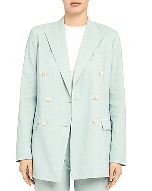 Theory Linens DOUBLE-BREASTED BLAZER